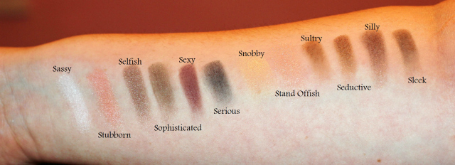 The Balm Nude Tude Palette Swatches