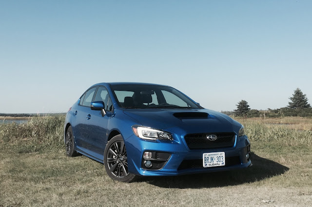2016 Subaru WRX rally blue front
