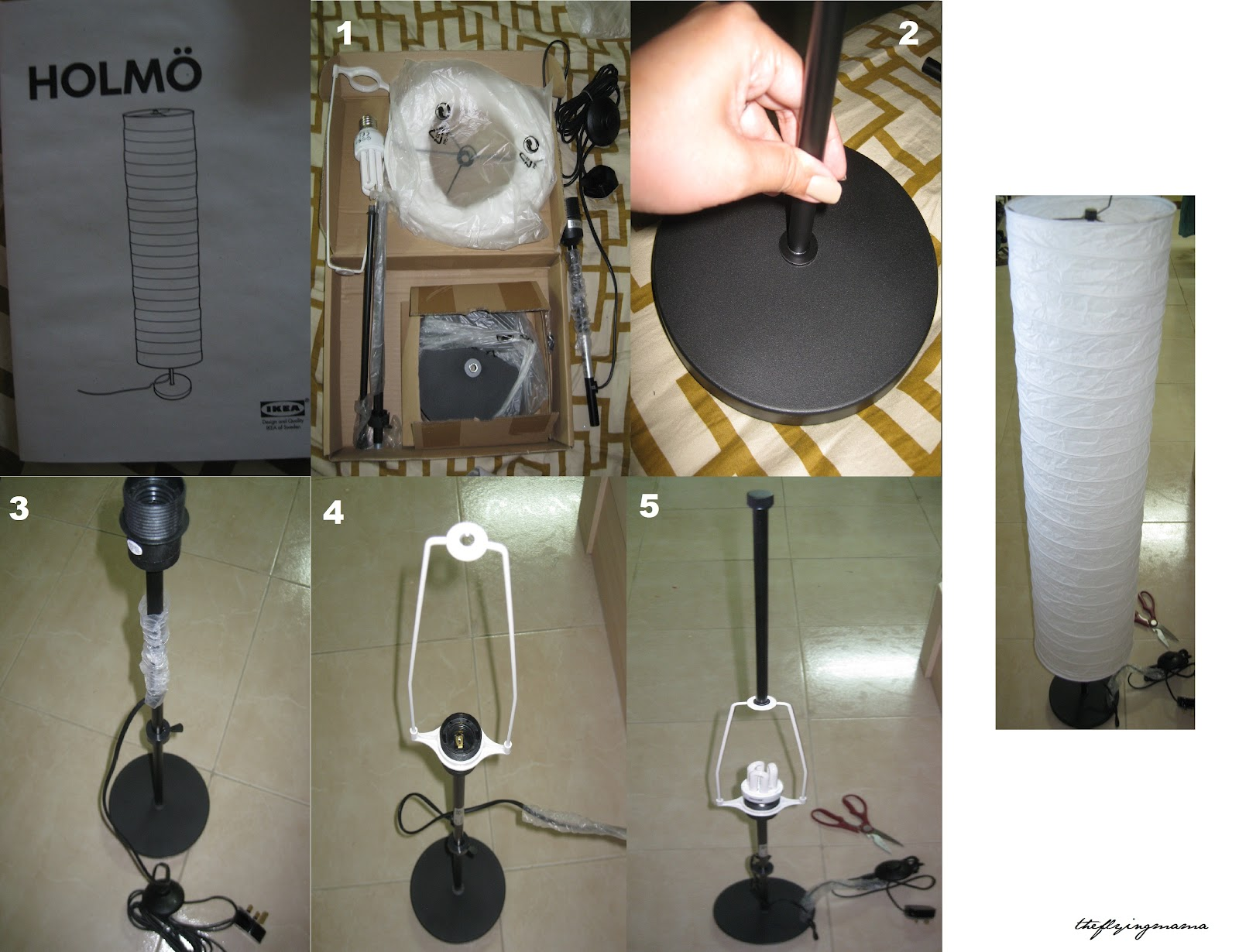 Crafting Adventures Of Someone With Long Feet Housekeeping Duties My Holmo Floor Lamp From Ikea