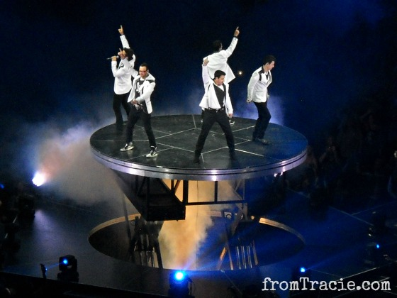 NKOTB On Stage