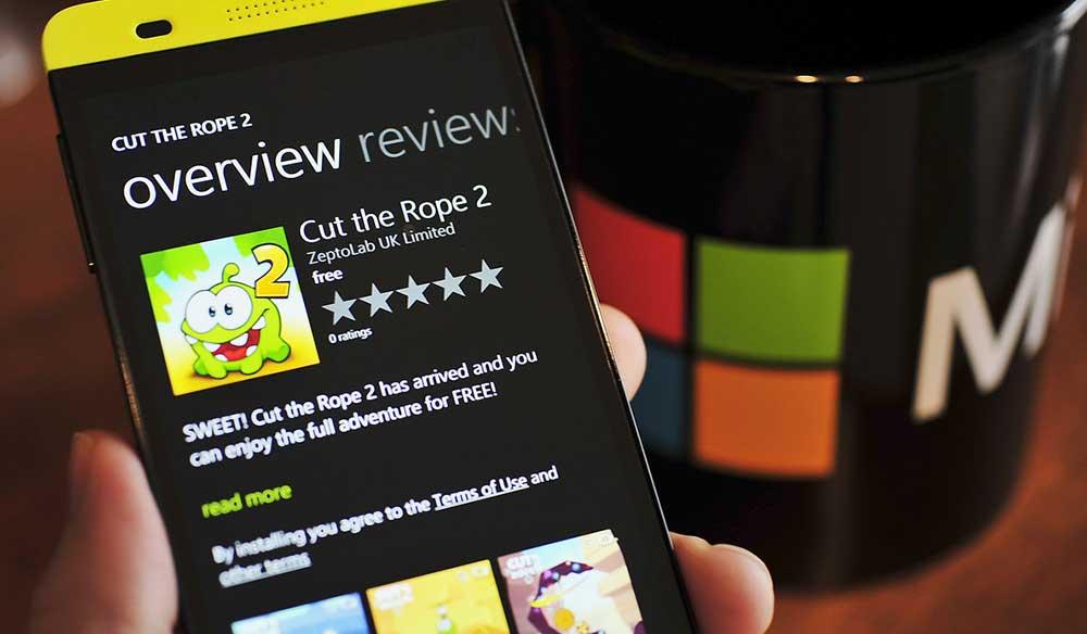Bulmaca Oyunu Cut the Rope 2 Windows Phone için İndirin