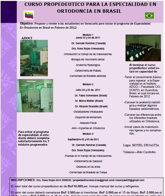 Odontologia venezuela curso propedeutico para for W de porter ortodoncia