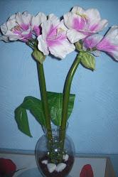 arranjo orquidea branca com rosa