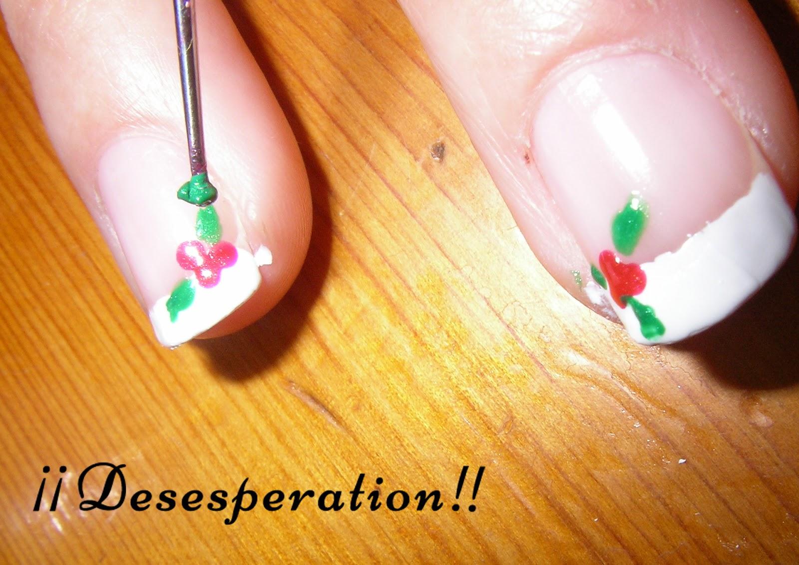 Desesperation!!: Diseño uñas - Acebo nails