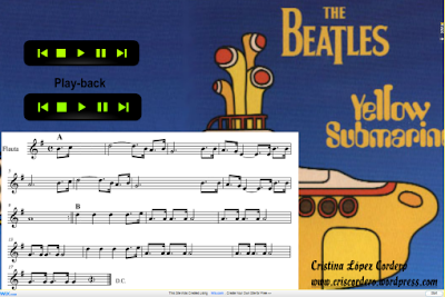 "Partitura Wix - The Beatles, ""Yellow Submarine"""