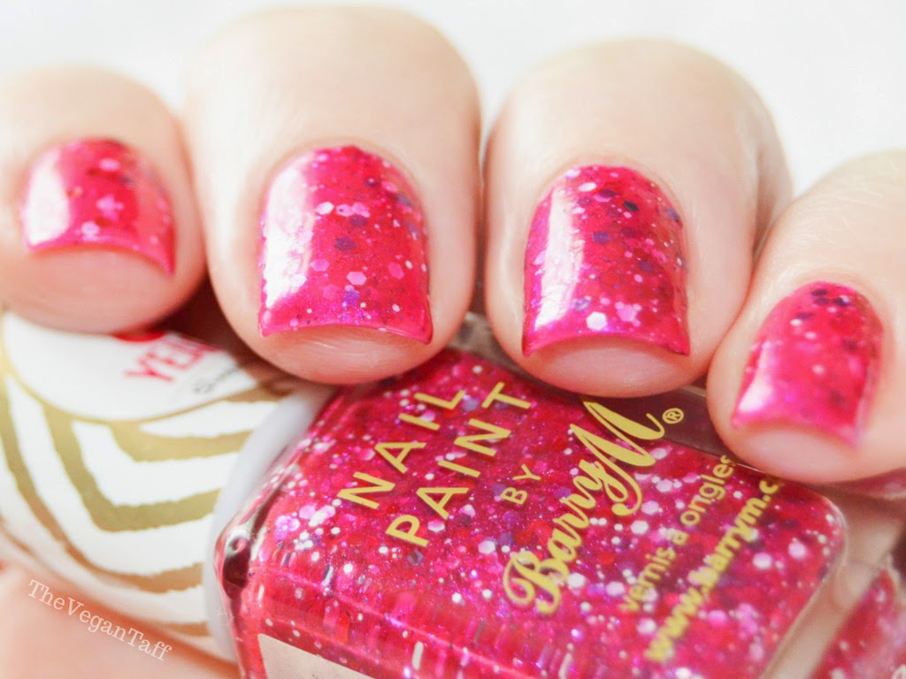 Barry M Pink Glitter Polish