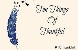 Ten Things of Thankful, thankful meme, thankful blog