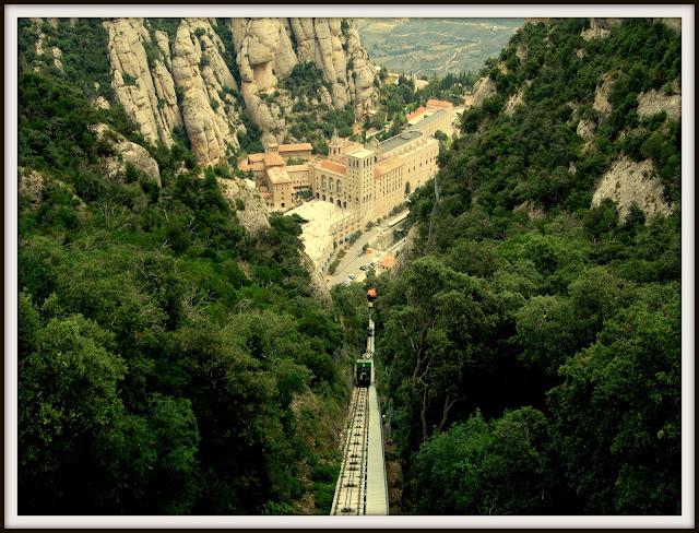 montserrat monasterio san joan cremallera tren monistrol