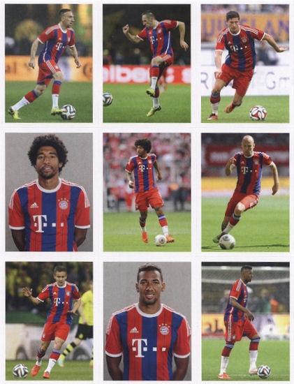 Franck Ribery Autogrammkarte Bayern München 2014-15 Original Signiert