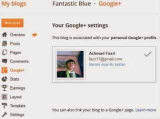 Tampilan Blogger Profil yang baru