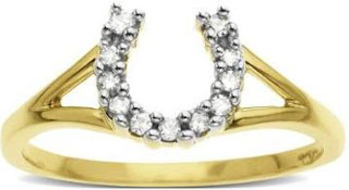 Yellow Gold Diamond Horseshoe Ring