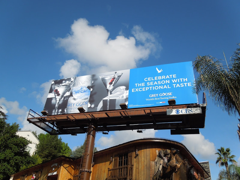 Grey Goose Celebrate season billboard