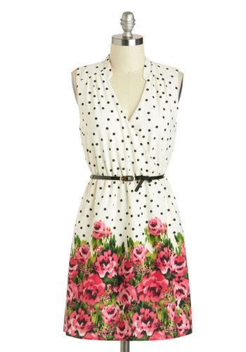 Sleeveless Printed Spring Dress