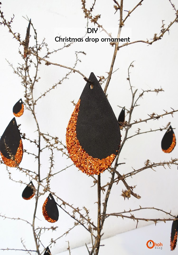 DIY Christmas drop ornament