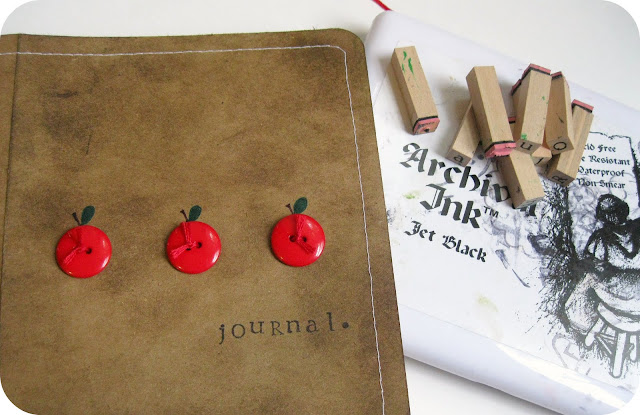 button journal cover