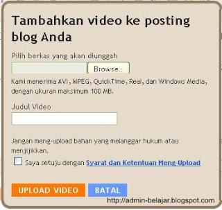 Cara Buat Posting di Blogger-Blogspot