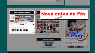 Nova caixa de fãs do Facebook para Blog