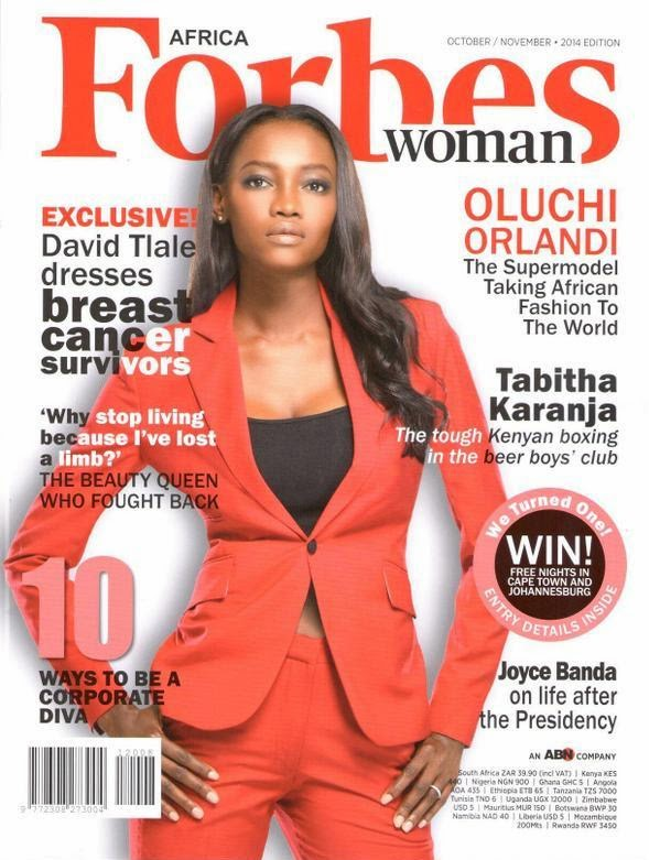 Forbes Africa Woman Face October/November Edition :Oluchi Orlandi