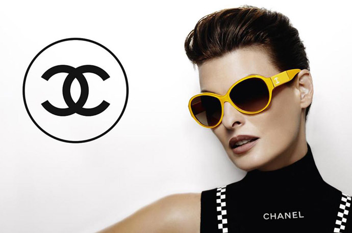 Chanel 2012 eyewear ad campaign with Linda Evangelista