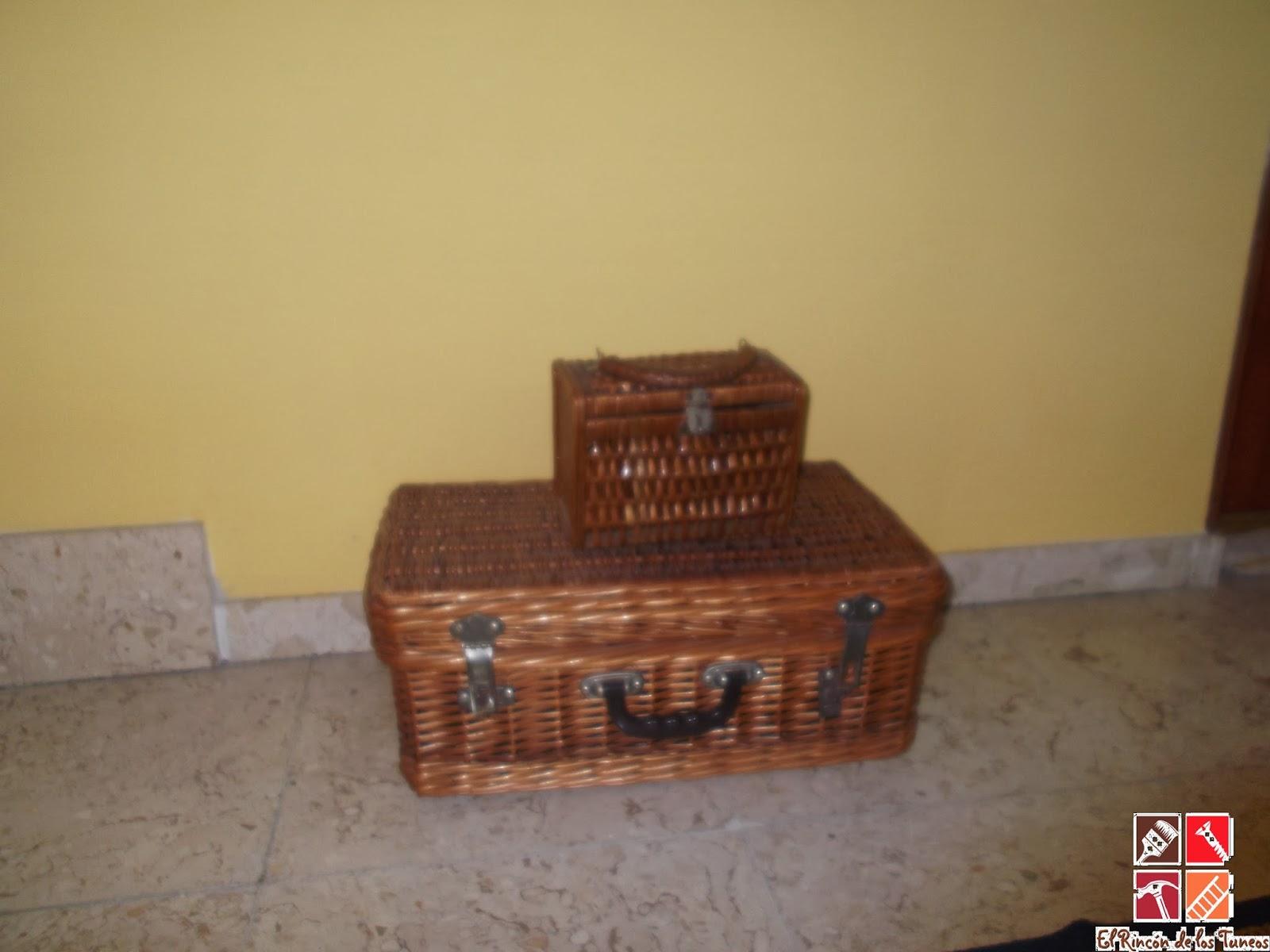 cestas mimbre decorativas