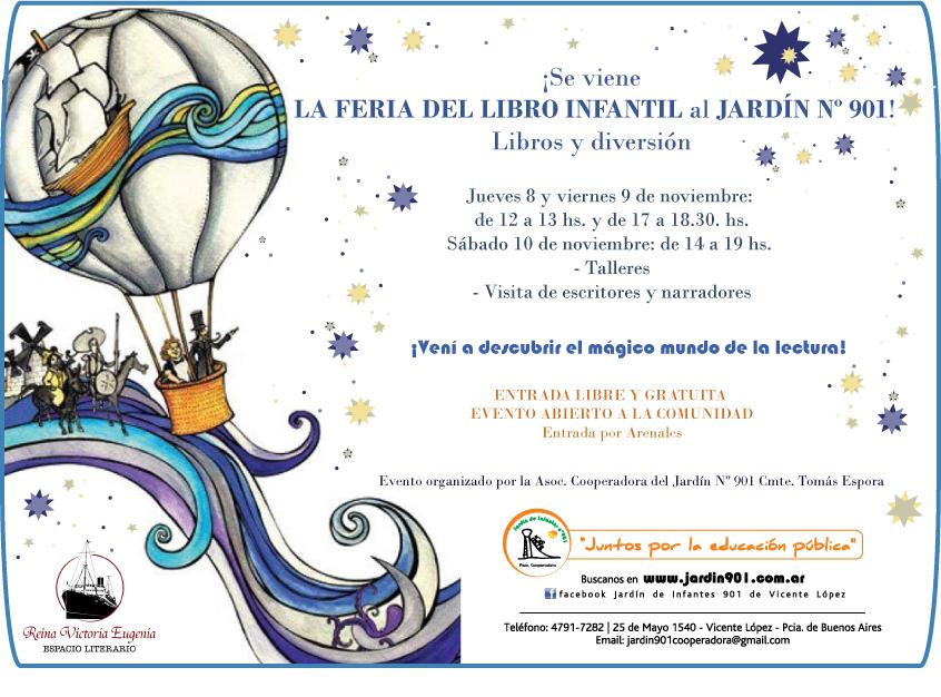 Reina victoria eugenia ferias de libros noviembre 2012 for Jardin 901 vicente lopez