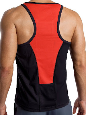 jackadams Race Tank Top Black-Red Back Gayrado