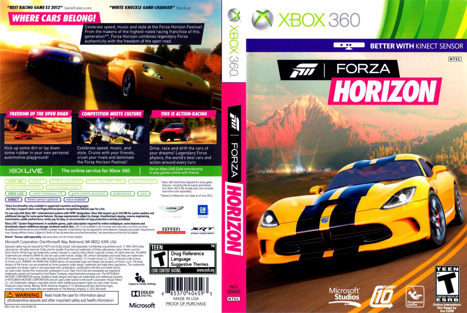 forza horizon xbox 360 gamecover download de capas para jogos ps4 xbox one pc xbox 360 e ps3. Black Bedroom Furniture Sets. Home Design Ideas