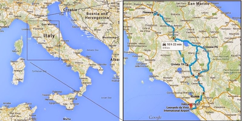The Absent Minded Professor S Travels Italy 2014 More Maps
