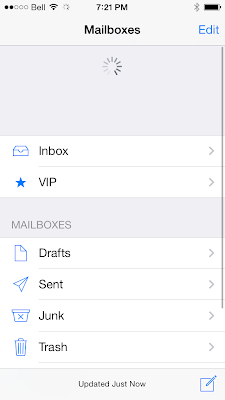 Mail has Pinch search bar and force to refresh