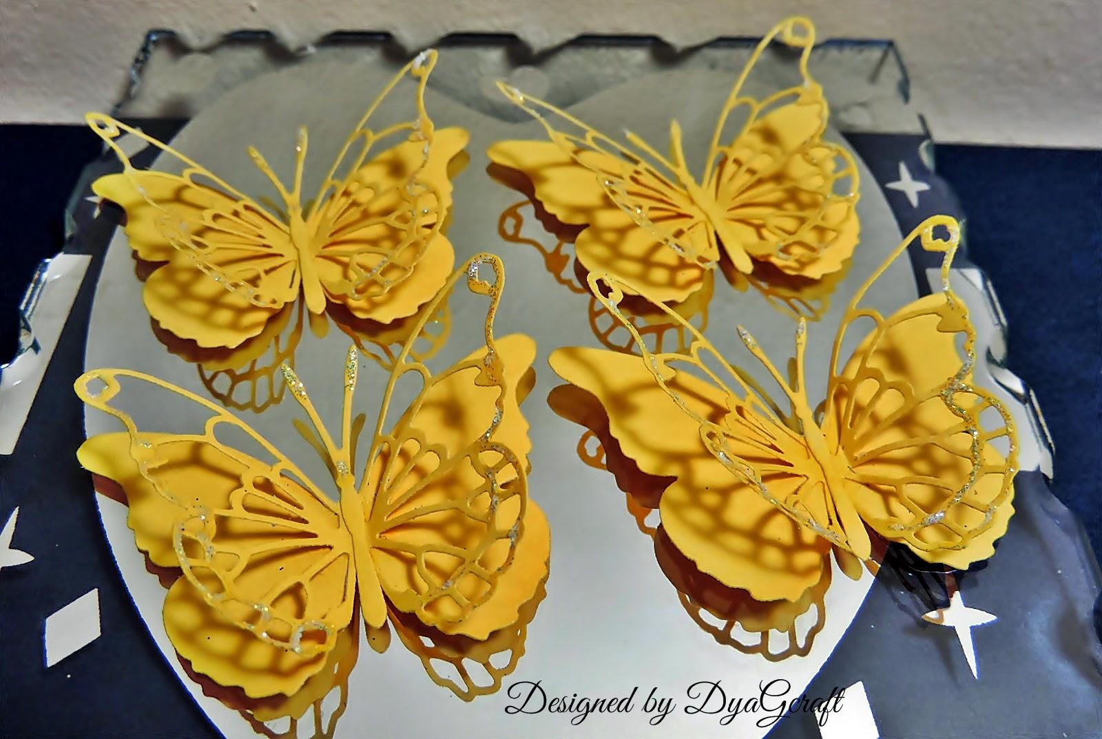fluturi galbeni Darla butterfly
