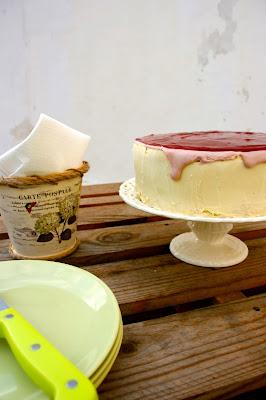 Tarta de gerds i xocolata blanca