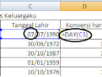 Fungsi DAY di Excel