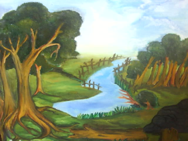 Kalam kasih lukisan pemandangan