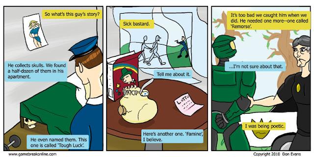 Funny Halo Joke Comic - Skull Collector