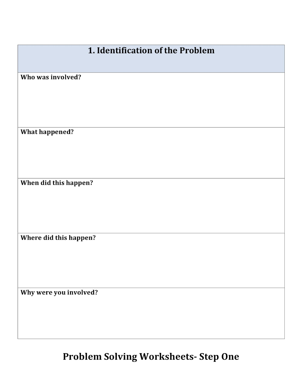 Peachy Speechie: Problem Solving Sheets