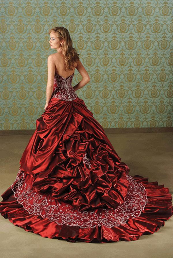 Color wedding dresses collections women red color wedding dresses