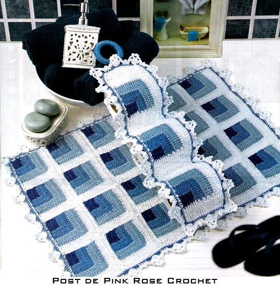 Вязание ковриков в ванную и туалет 491