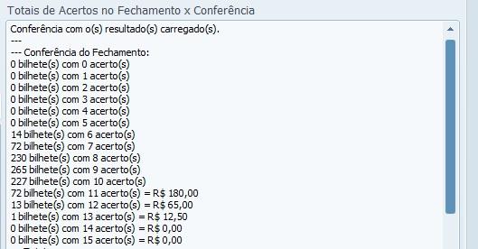 Conferência da lotofácil 0896