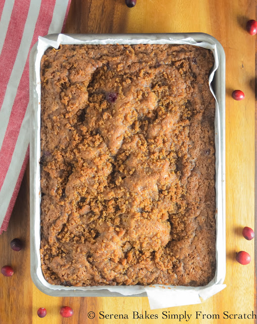 Cranberry Orange Coffeecake is the perfect holiday dessert for brunch! serenabakessimplyfromscratch.com