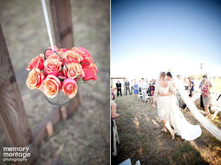 coral grey wedding photo ellensburg washington