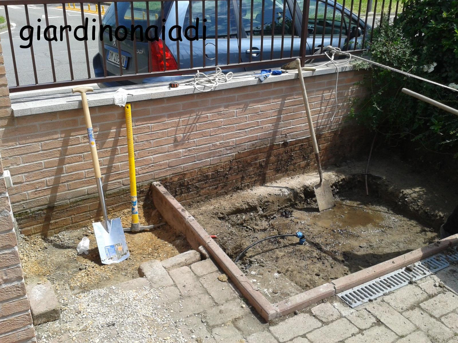 Il giardino delle naiadi un laghetto per morgana for Costruire laghetto in cemento