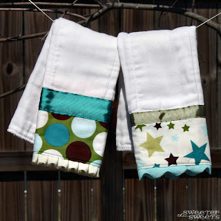 Boutique Burp Cloths for Baby Boys and Girls at SweeterThanSweets on Etsy