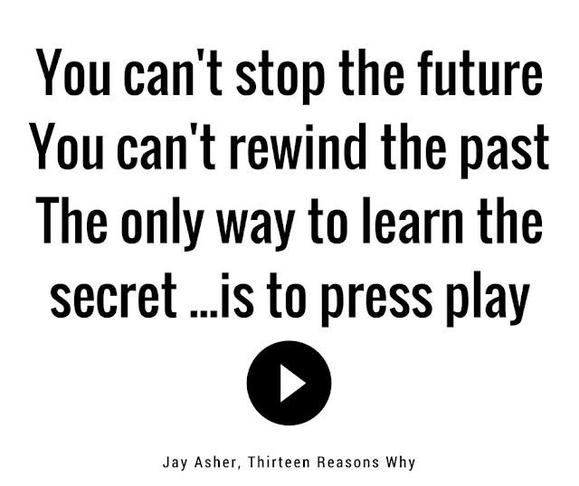 You can't stop the future You can't rewind the past The only way to learn the secret ...is to press play