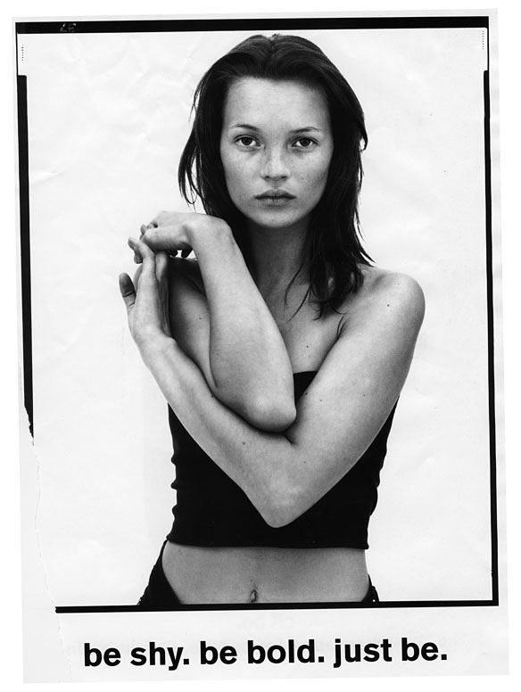 Psynopsis Kate Moss by Corinne Day Be Shy. Be Bold. Just Be.