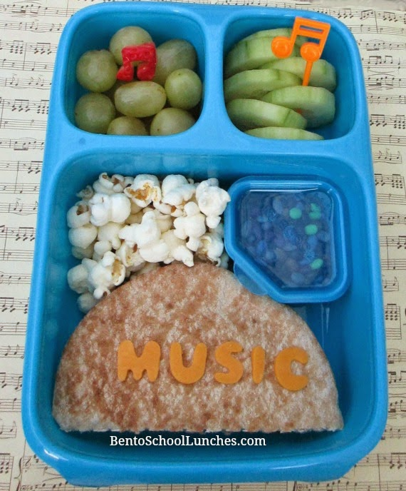 Music, bento school lunch