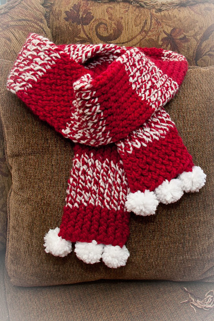 Knitting Loom Pom Pom Maker : Loom knitting by this moment is good knit holiday scarf