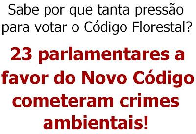 23 parlamentares cometeram crimes ambientasi