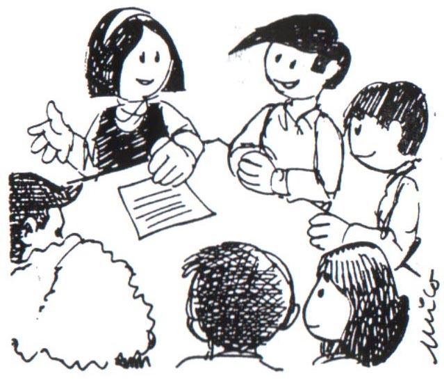 Dibujos de dos personas hablando - Imagui