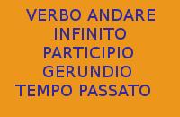QUAL'È L'INFINITO, IL PARTICIPIO E IL GERUNDIO AL TEMPO PASSATO DEL VERBO ANDARE IN ITALIANO ?