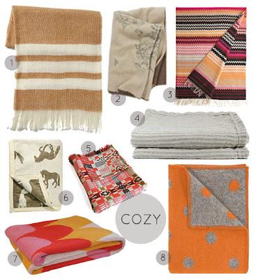 modern geometric eco blankets